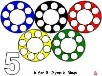 Magnet pages for an Olympic theme