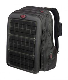 Mochila amplia con cargador solar portátil  1