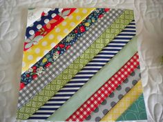 A Quilting Life: String Quilt Blocks--A Tutorial