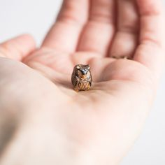 Itty bitty owl totem! :) le animalé