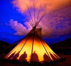 Native American sunset..my kind of home away from home