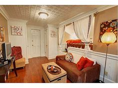 inside a caboose converted into a guest house! so awesome.