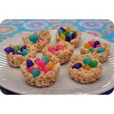 Easter Nest Eggs w/Rice Krispies