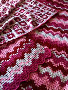 Granny squares en een ripple deken