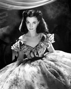 Scarlett O'Hara giving her signature look. One of my all time favorite heriones!
