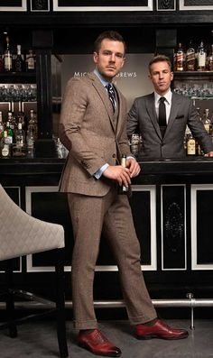 Tweed three piece. Smart casual because of the elbow patches.