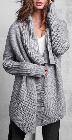 who wouldn't want to wrap up in this sweater, winter is upon us!