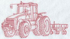 Redwork planter, tractor