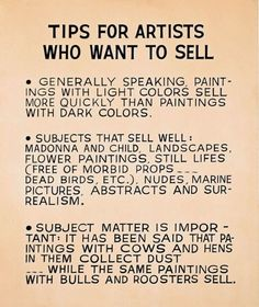John Baldessari, Tips for Artists Who Want to Sell, 1966-68