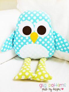 Toy Sewing Pattern - Penguin Pattern PDF Softie Pillow Pattern