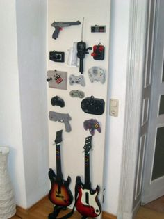 Could be cool to put a few old controllers on the wall and then put frames around them. For the game room/tv room.