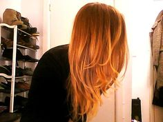 Red to Blonde Ombre, probably the first one I really liked