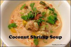 Coconut Shrimp Soup and more Paleo soup recipes on MyNaturalFamily.com #paleo #soup #recipe