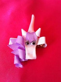 Unicorn Ribbon Sculpture Hair Clip