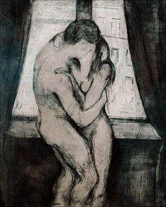 Kiss, 1892, Edvard Munch