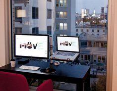 Mac Setups: MacBook Pro & Apple Cinema Display with a view