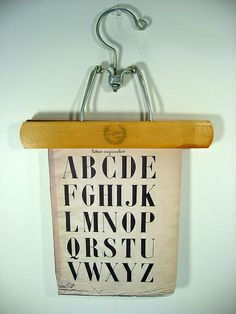 Vintage Wire Clamp Wooden Display Hanger by junkculture, via Flickr