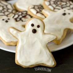 Healthier Halloween Sugar Cookies - Texanerin Baking