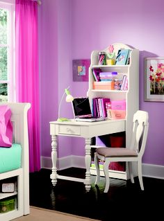 Hannah is a cleaner, casual country youth group with soft curves, shaped pilasters, finessed lines, scalloped accents and casual hardware in a crisp painted White finish. Crafted of Solid Hardwoods and painted wood products. This collection is sure to fit into many settings for younger girls to tweens.
