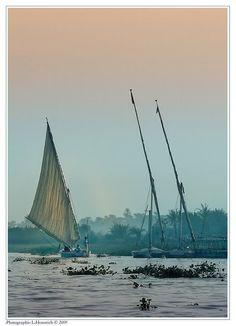 sailing down old river Nile