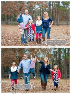 What to wear to your family photo shoot: Coordinating colors and layers!