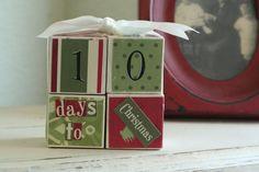DIY Countdown to Christmas Blocks