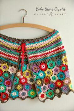 Cherry Heart: Boho Stars crochet pattern http://www.ravelry.com/patterns/library/boho-stars ..★ Teresa Restegui http://www.pinterest.com/teretegui/ ★..