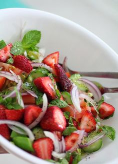 strawberry salad...