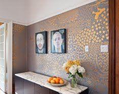 DIY gold wall stenciling & painting