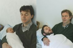 Oh, you charming sentimental bearded hipsters!: two brothers recreate childhood photos joe luxton (9)