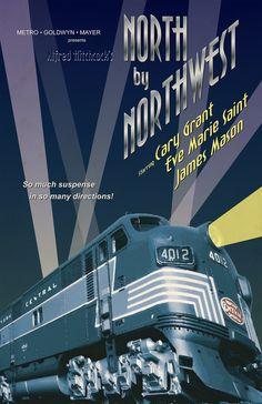 North by Northwest Movie Poster Redesign