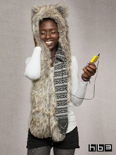 The SpiritHood. A cozy and unique pair of headphones (Yes, it plays music!)
