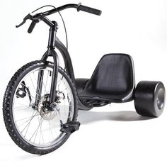 Who doesn't need an adult sized Big Wheel with hard plastic rear wheels (for awesome drifting) and a front disk brake?