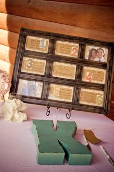 Table assignment and wedding guest book