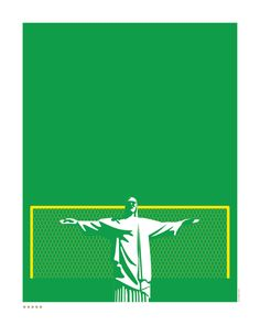Brazil World Cup 2014 poster by Art of Sport
