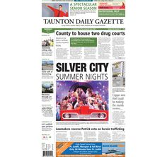 The front page of the Taunton Daily Gazette for Thursday, July 31, 2014.