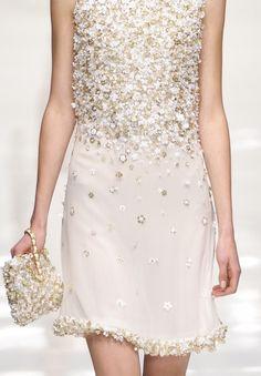 BEAUTIFUL LIGHTLY DUSTED DRESS BY #Blugirl 2012