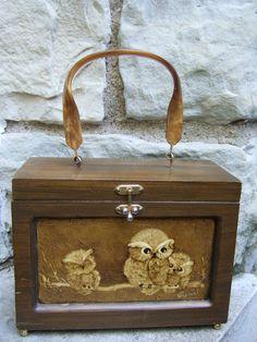 1970s Decoupage Owl Theme Box Bag. $49.00, via Etsy.