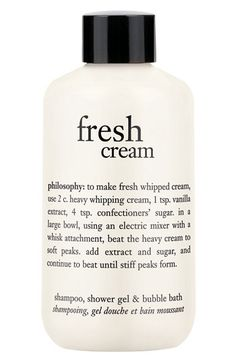 philosophy 'fresh cream' shampoo, shower gel & bubble bath (Buy & save) available at #Nordstrom ..one of my favorites from #philosophy and hard to find!
