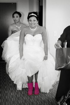 It looks like you can wear any pair of UGG boots for your wedding, not the the wedding collection made by UGG! We love the contrast of the pink!