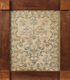 Pennsylvania silk on linen sampler, early 19th c., inscribed Elizabeth Licey