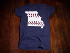 St. Louis Cardinals Missouri baseball Ladies t shirt  by watatees, $14.99