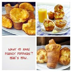 How to Make Perfect Popovers + Cheddar Parmesan Popovers