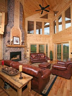 Rustic Great Room: Architectural Photography - Tom Harper Photography, Inc