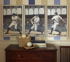 Love this for boy's baseball room.