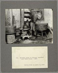 Kitchen scene in Chicago tenement near Hull House, 1912 (1912)