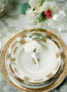 Downton Abbey inspired tablescape