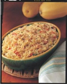 Spaghetti Squash Casserole-is a delicious recipe for a great cheesy Italian style side-dish or use as a meal. It is also a healthy WeightWatchers (4) PointsPlus, diabetic and vegetarian recipe. Makes 6 generous servings.
