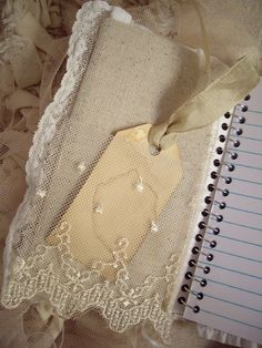 beautiful lace and pretty stained tag