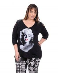 LOJA VIRTUAL PLUS SIZE www.tamanhosespeciais.com.br Blusa Diva Marilyn viscose renda Plus Size Inverno 2014 48 50 52 54